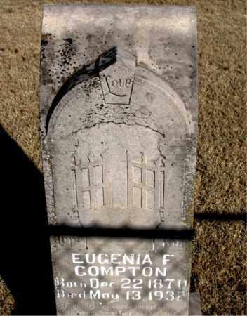 COMPTON, EUGENIA F. - Newton County, Arkansas | EUGENIA F. COMPTON - Arkansas Gravestone Photos