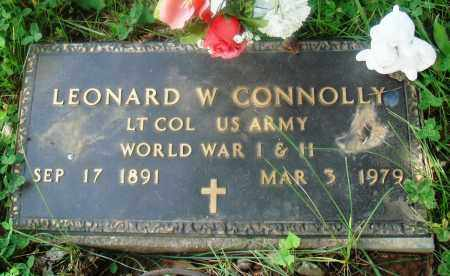 CONNOLLY (VETERAN 2 WARS), LEONARD W - Newton County, Arkansas | LEONARD W CONNOLLY (VETERAN 2 WARS) - Arkansas Gravestone Photos
