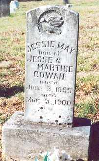 COWAN, JESSIE MAY - Newton County, Arkansas | JESSIE MAY COWAN - Arkansas Gravestone Photos