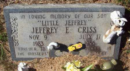 CRISS, JEFFERY E. - Newton County, Arkansas | JEFFERY E. CRISS - Arkansas Gravestone Photos