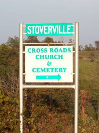 *CROSS ROADS CEMETERY SIGN,  - Newton County, Arkansas |  *CROSS ROADS CEMETERY SIGN - Arkansas Gravestone Photos