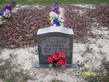 DANIELS, ALPHA RUBY - Newton County, Arkansas   ALPHA RUBY DANIELS - Arkansas Gravestone Photos