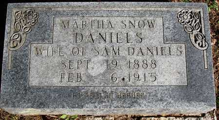 SNOW DANIELS, MARTHA - Newton County, Arkansas | MARTHA SNOW DANIELS - Arkansas Gravestone Photos