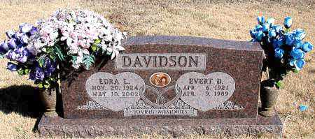 DAVIDSON, EVERT D. - Newton County, Arkansas | EVERT D. DAVIDSON - Arkansas Gravestone Photos