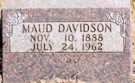 DAVIDSON, MAUD - Newton County, Arkansas | MAUD DAVIDSON - Arkansas Gravestone Photos
