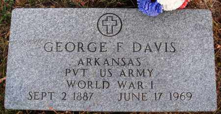 DAVIS  (VETERAN WWI), GEORGE F. - Newton County, Arkansas | GEORGE F. DAVIS  (VETERAN WWI) - Arkansas Gravestone Photos