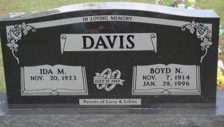 DAVIS, BOYD N. - Newton County, Arkansas | BOYD N. DAVIS - Arkansas Gravestone Photos