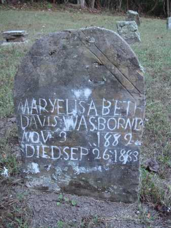 DAVIS, MARY ELISABETH - Newton County, Arkansas | MARY ELISABETH DAVIS - Arkansas Gravestone Photos