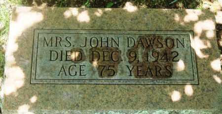 DAWSON, MRS. JOHN - Newton County, Arkansas | MRS. JOHN DAWSON - Arkansas Gravestone Photos