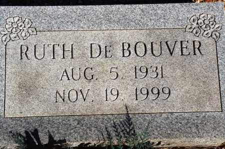 DE BOUVER, RUTH - Newton County, Arkansas | RUTH DE BOUVER - Arkansas Gravestone Photos