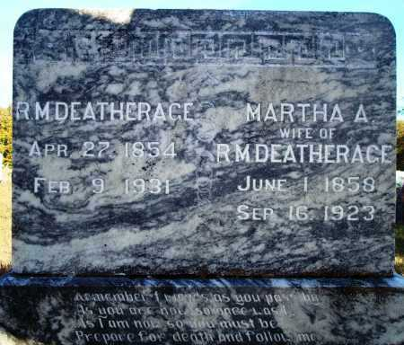 DEATHERAGE, MARTHA A. - Newton County, Arkansas | MARTHA A. DEATHERAGE - Arkansas Gravestone Photos