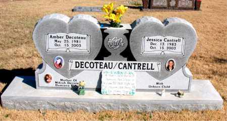 DECOTEAU, AMBER - Newton County, Arkansas | AMBER DECOTEAU - Arkansas Gravestone Photos