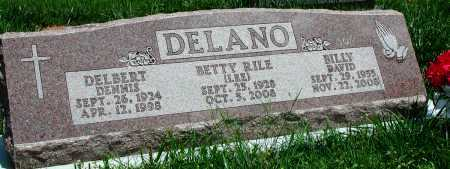 LEE DELANO, BETTY RILE - Newton County, Arkansas | BETTY RILE LEE DELANO - Arkansas Gravestone Photos