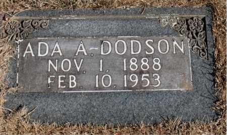DODSON, ADA  A. - Newton County, Arkansas | ADA  A. DODSON - Arkansas Gravestone Photos
