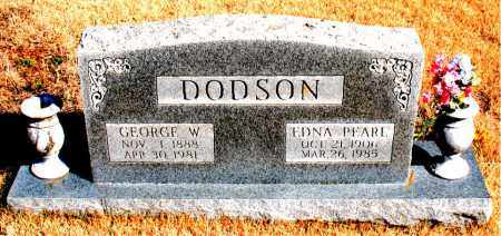 DODSON, GEORGE W. - Newton County, Arkansas | GEORGE W. DODSON - Arkansas Gravestone Photos