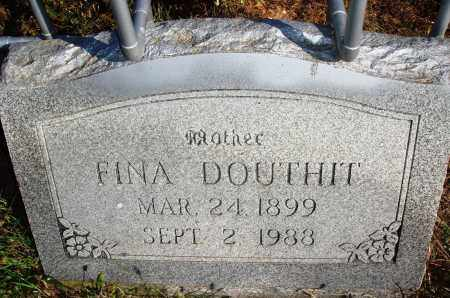 DOUTHIT, FINA - Newton County, Arkansas | FINA DOUTHIT - Arkansas Gravestone Photos