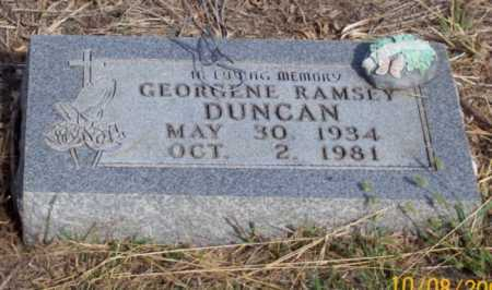 DUNCAN, GEORGENE - Newton County, Arkansas | GEORGENE DUNCAN - Arkansas Gravestone Photos
