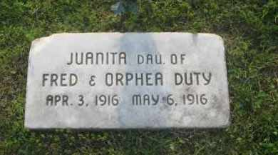 DUTY, JUANITA - Newton County, Arkansas | JUANITA DUTY - Arkansas Gravestone Photos