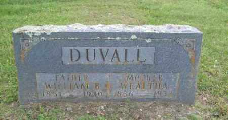 LUDINTON DUVALL, WEALTHA - Newton County, Arkansas | WEALTHA LUDINTON DUVALL - Arkansas Gravestone Photos