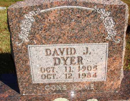 DYER, DAVID J. - Newton County, Arkansas | DAVID J. DYER - Arkansas Gravestone Photos
