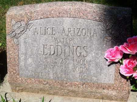 EDDINGS, ALICE ARIZONA - Newton County, Arkansas | ALICE ARIZONA EDDINGS - Arkansas Gravestone Photos