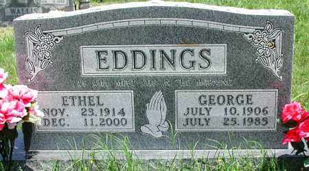 EDDINGS, GEORGE - Newton County, Arkansas | GEORGE EDDINGS - Arkansas Gravestone Photos