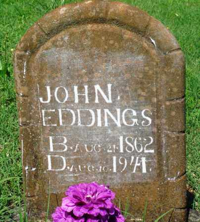 EDDINGS, JOHN - Newton County, Arkansas | JOHN EDDINGS - Arkansas Gravestone Photos