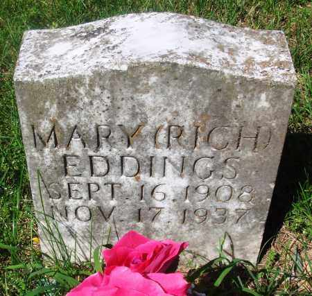 EDDINGS, MARY - Newton County, Arkansas | MARY EDDINGS - Arkansas Gravestone Photos
