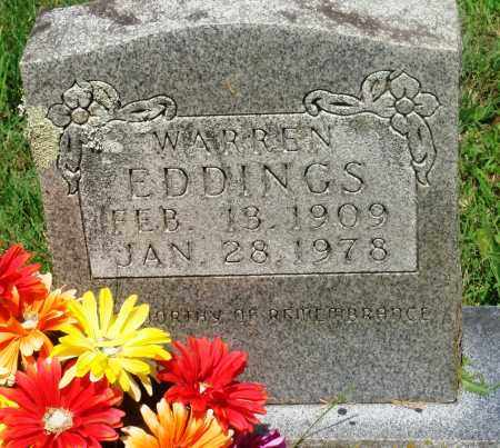 EDDINGS, WARREN - Newton County, Arkansas | WARREN EDDINGS - Arkansas Gravestone Photos