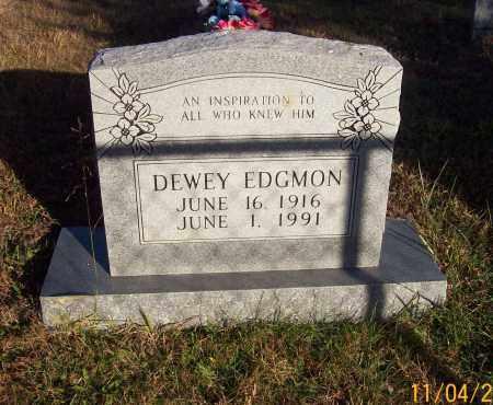 EDGMON, DEWEY - Newton County, Arkansas | DEWEY EDGMON - Arkansas Gravestone Photos