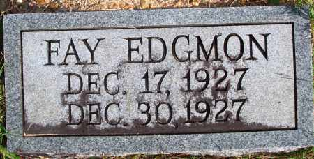 EDGMON, FAY - Newton County, Arkansas | FAY EDGMON - Arkansas Gravestone Photos