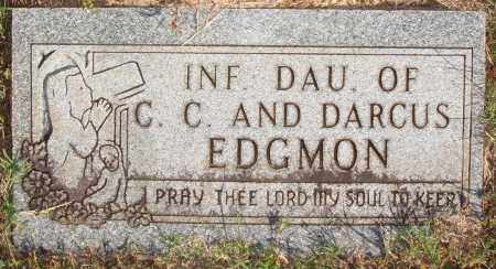 EDGMON, INFANT DAUGHTER - Newton County, Arkansas | INFANT DAUGHTER EDGMON - Arkansas Gravestone Photos