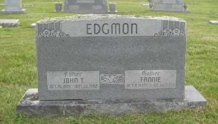 EDGMON, FANNIE - Newton County, Arkansas | FANNIE EDGMON - Arkansas Gravestone Photos