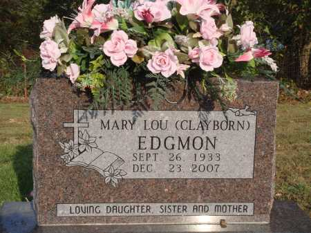 CLAYBORN EDGMON, MARY LOU - Newton County, Arkansas | MARY LOU CLAYBORN EDGMON - Arkansas Gravestone Photos