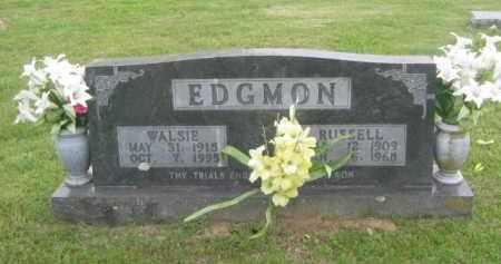 EDGMON, WALSIE - Newton County, Arkansas | WALSIE EDGMON - Arkansas Gravestone Photos