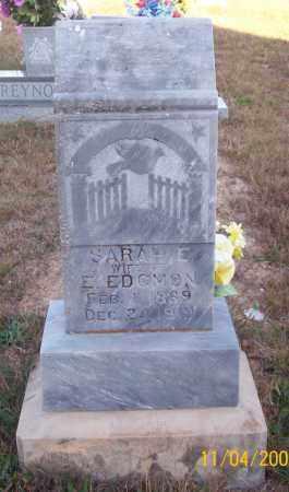EDGMON, SARAH E. - Newton County, Arkansas | SARAH E. EDGMON - Arkansas Gravestone Photos