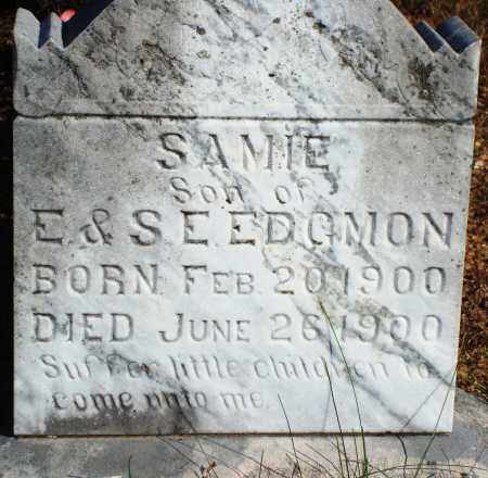 EDGMON, SAMIE - Newton County, Arkansas | SAMIE EDGMON - Arkansas Gravestone Photos