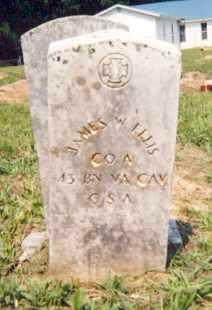ELLIS (VETERAN CSA), JAMES W - Newton County, Arkansas | JAMES W ELLIS (VETERAN CSA) - Arkansas Gravestone Photos