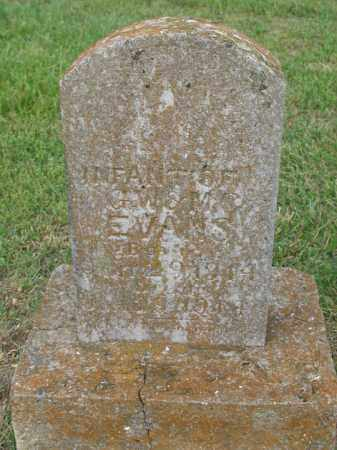 EVANS, INFANT - Newton County, Arkansas | INFANT EVANS - Arkansas Gravestone Photos