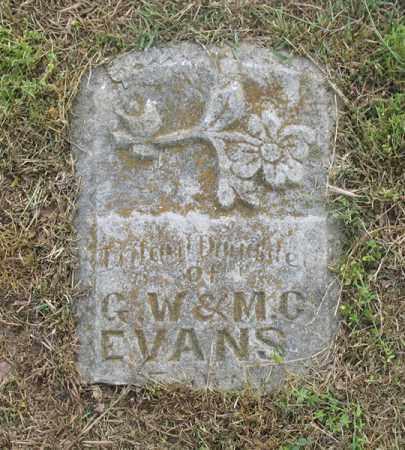 EVANS, INFANT DAUGHTER - Newton County, Arkansas | INFANT DAUGHTER EVANS - Arkansas Gravestone Photos