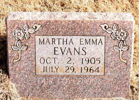 EVANS, MARTHA EMMA - Newton County, Arkansas | MARTHA EMMA EVANS - Arkansas Gravestone Photos