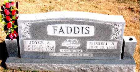 FADDIS, JOYCE A. - Newton County, Arkansas | JOYCE A. FADDIS - Arkansas Gravestone Photos