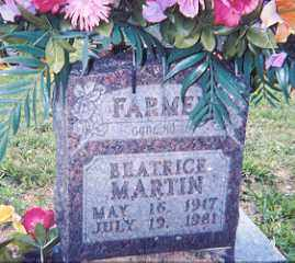 FARMER, BEATRICE - Newton County, Arkansas | BEATRICE FARMER - Arkansas Gravestone Photos