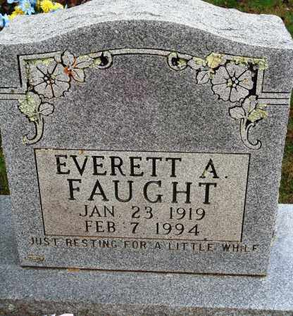 FAUGHT, EVERETT A. - Newton County, Arkansas | EVERETT A. FAUGHT - Arkansas Gravestone Photos