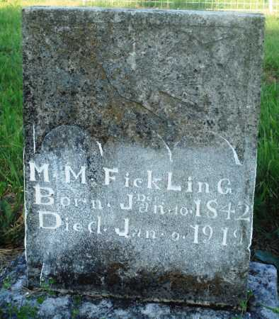 FICKLING, M M - Newton County, Arkansas | M M FICKLING - Arkansas Gravestone Photos