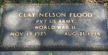 FLOOD (VETERAN WWII), CLAY NELSON - Newton County, Arkansas | CLAY NELSON FLOOD (VETERAN WWII) - Arkansas Gravestone Photos