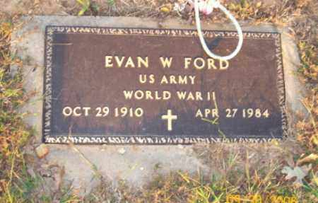 FORD  (VETERAN WWII), EVAN W - Newton County, Arkansas | EVAN W FORD  (VETERAN WWII) - Arkansas Gravestone Photos