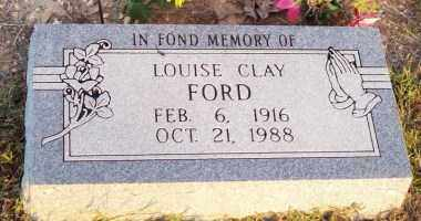 CLAY FORD, LOUISE - Newton County, Arkansas | LOUISE CLAY FORD - Arkansas Gravestone Photos
