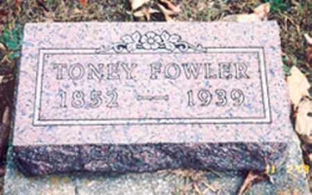FOWLER, TONEY - Newton County, Arkansas | TONEY FOWLER - Arkansas Gravestone Photos