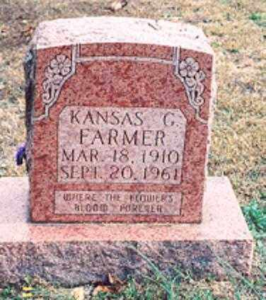 FARMER, KANSAS G. - Newton County, Arkansas | KANSAS G. FARMER - Arkansas Gravestone Photos